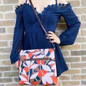 NWT Kate Spade Pink Multi Top Zip Crossbody
